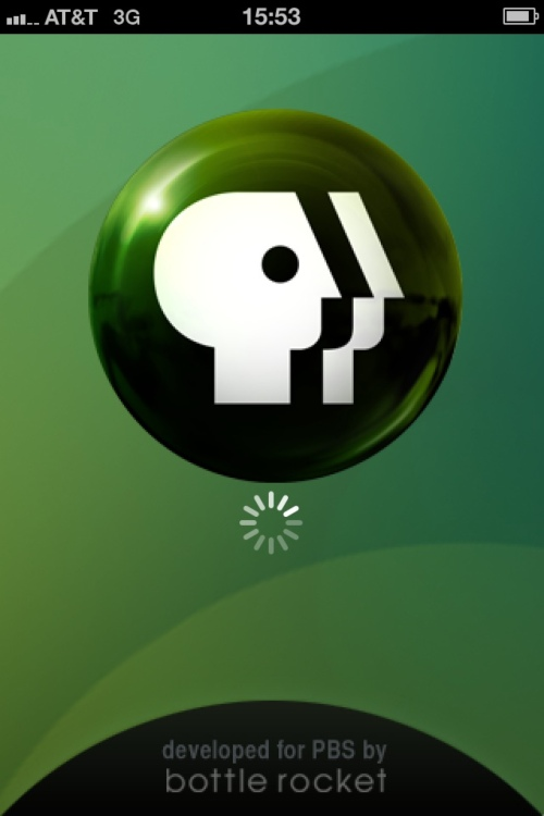 PBS iphone application splash screen.