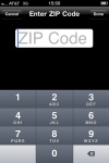 PBS iPhone application - enter ZIP code.