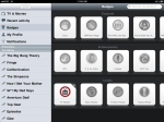 Miso iPad application badges screen.