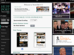 Huffington Post iPad application customization screen.