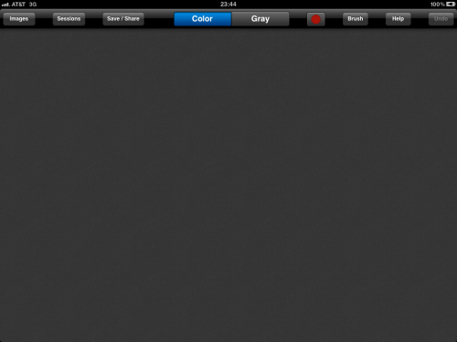ColorSplash main screen.