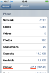 iPhone IOS version is 4.2.1.