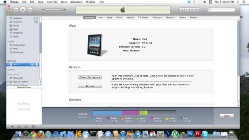 Summary tab in iTunes.