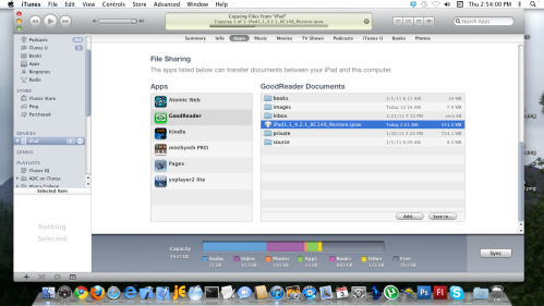 Copying Files from iPad