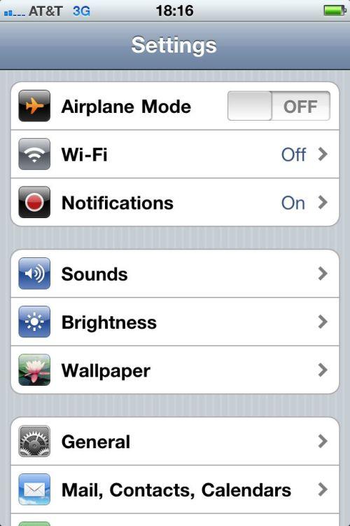 Wi-Fi is off.