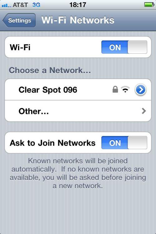 Turn on Wi-Fi.