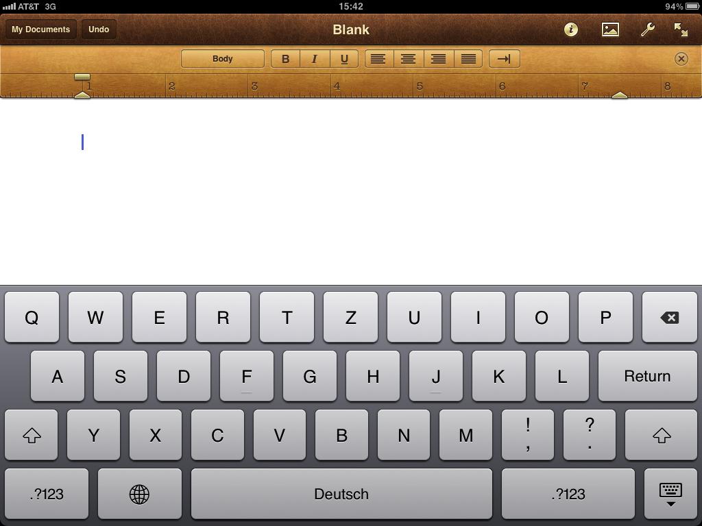 German keyboard layout in use.   glasskeys.com