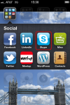 """Skype icon, I grouped mine with other """"social"""" apps."""