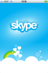 "Skype ""splash"" screen."