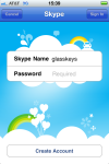 Skype login screen, enter username and password.