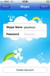 Skype login screen, enter username and password.