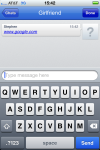 Enter Google's web address, then tap Send button.