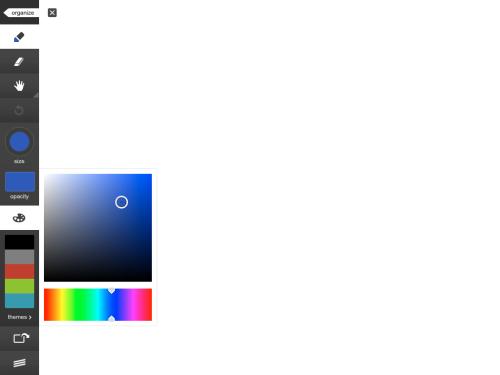 Colour selection.