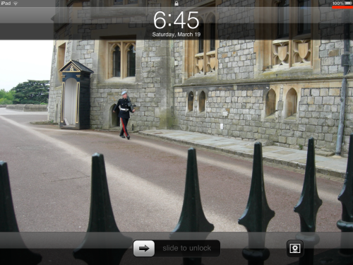 iPad is now fully charged.