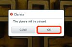 Tap OK to delete image.