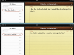 New Notes font size at top, old Notes font size at bottom.