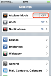 Toggle Airplane Mode back to the OFF position.