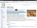 Wiki page on Highland bulls, copying selected text.