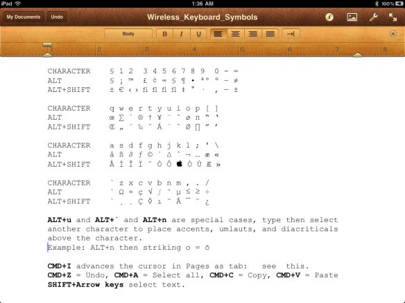 Use A Bluetooth Keyboard To Type Symbols Or Special Characters On The Ipad Glasskeys Com