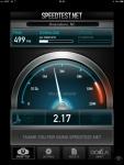 Determining download speed.