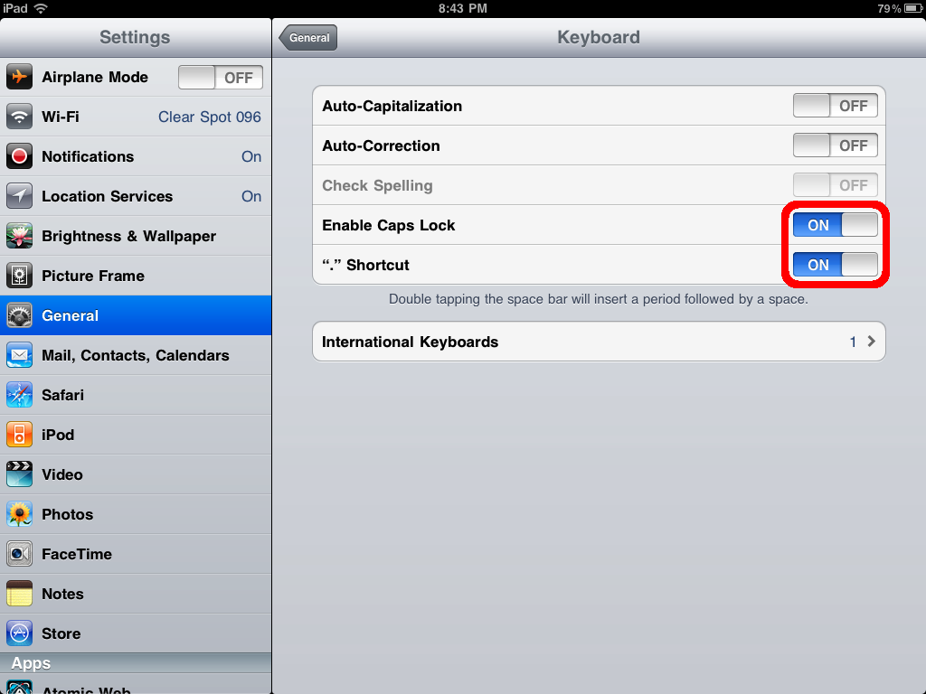 iphone autocorrect settings how to set auto correction spell check amp caps lock on 7756