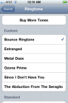 New ringtone appears in the list.
