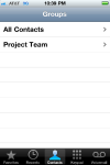 The new iphone group appears in contact section.