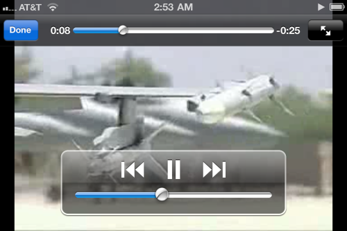 Eject iPhone in iTunes, then enjoy video.