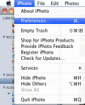 Select Preferences under the iPhoto menu.
