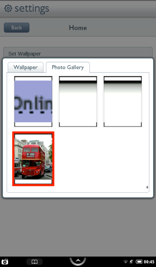 Select Photo Gallery tab, and select your image.