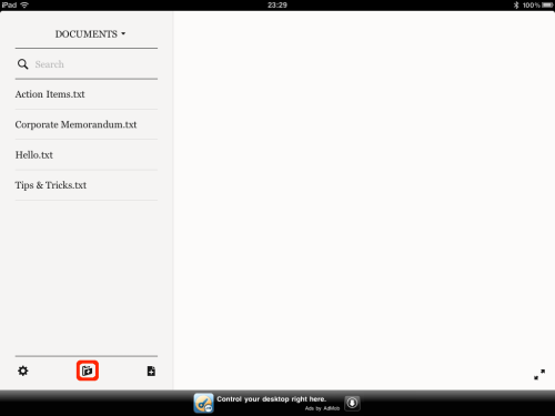 New folder button.
