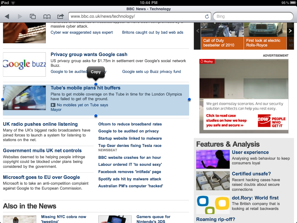 The Easy Way To Select And Copy Web Page Text On The IPad