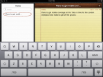 View of text pasted into Notes application.