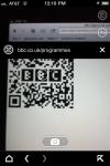 Scanning a BBC QR code.