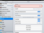 Settings - tap Safari then Search Engine