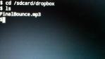 Change directory to dropboxfolder.