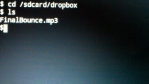 Change directory to dropbox folder.