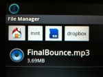 File Manager view of dropbox downloadfolder.