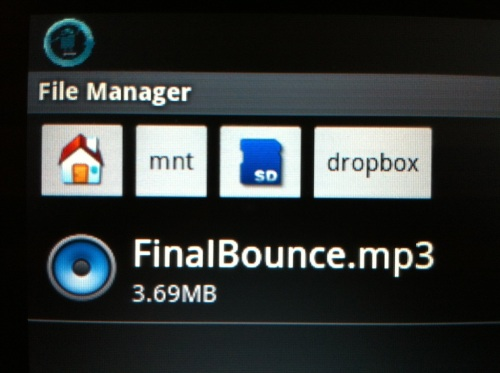File Manager view of dropbox download folder.