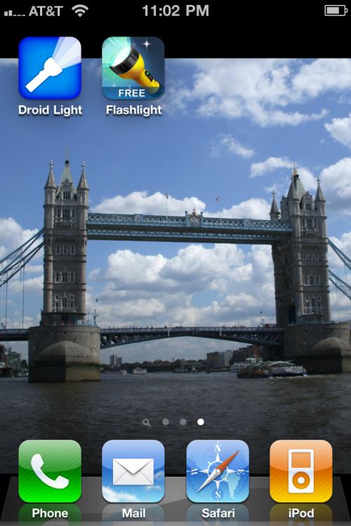 Droid Light and iHandy Flashlight Free