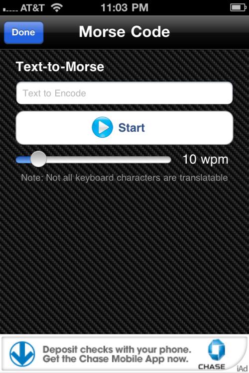 Text-to-Morse utility.