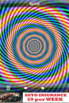 Hypnotic animated spirals.