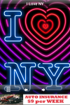 Neon sign.