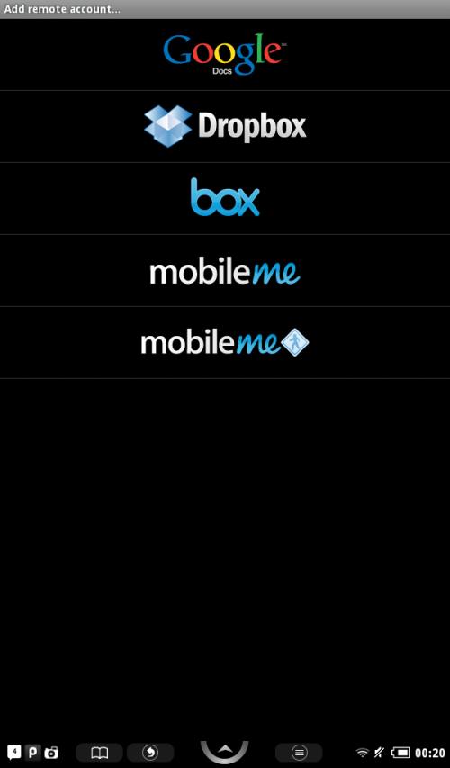 Tap Dropbox option.