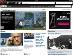 View of the BBC main page in Opera Mini on the iPad.