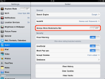 Select Safari settingscategory.
