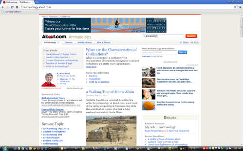Normal web view of page with adverts.
