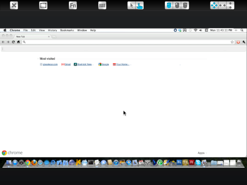 Using the Chrome browser on remote desktop.