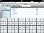 On screen editing keys.