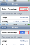 Toggle Battery Percentage ON. (iPhone)